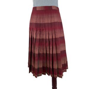 Pendleton Wool Plaid Pleated Full Short Skirt 10